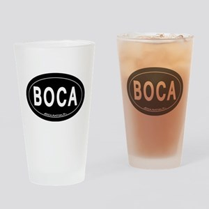 Boca Raton FL Oval Drinking Glass