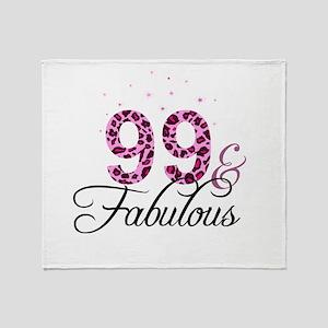 99 and Fabulous Throw Blanket
