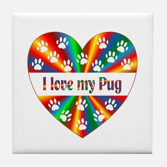 Pug Love Tile Coaster