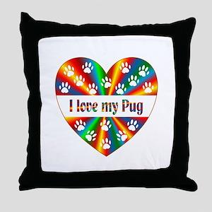 Pug Love Throw Pillow