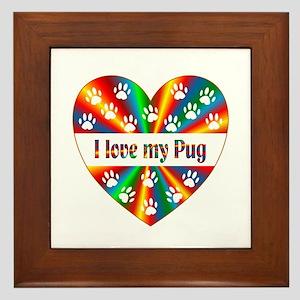 Pug Love Framed Tile