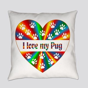 Pug Love Everyday Pillow