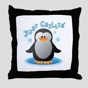 Just Chilin Throw Pillow