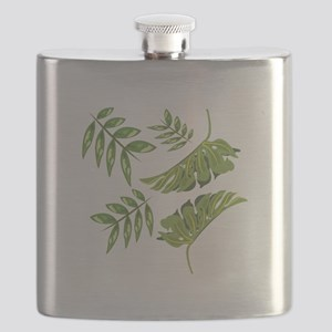 Tropical Leaves Flask