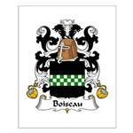 Boiseau Family Crest Small Poster