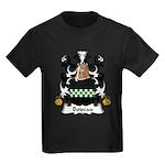 Boiseau Family Crest Kids Dark T-Shirt