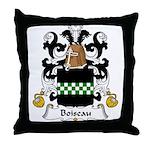 Boiseau Family Crest Throw Pillow
