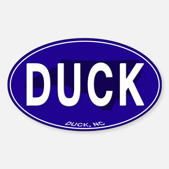Duck NC Oval Decal