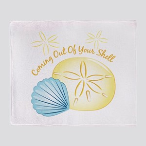 Out Of Shell Throw Blanket