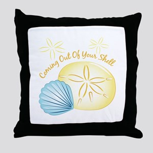 Out Of Shell Throw Pillow