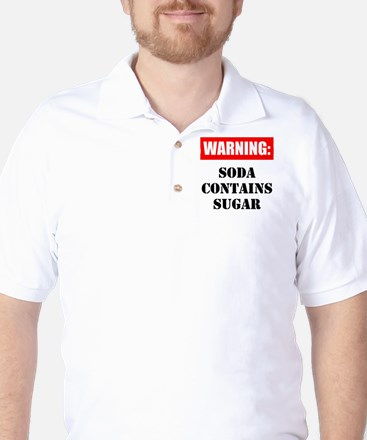 Soda Contains Sugar Golf Shirt