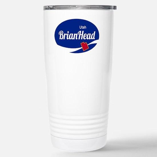 Brian Head Ski Resort U Stainless Steel Travel Mug
