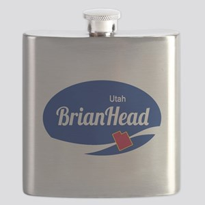 Brian Head Ski Resort Utah oval Flask