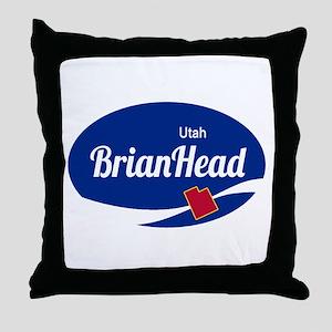Brian Head Ski Resort Utah oval Throw Pillow