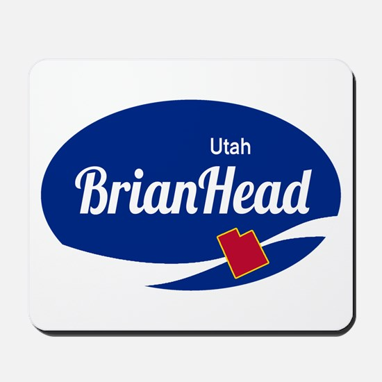 Brian Head Ski Resort Utah oval Mousepad