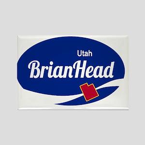 Brian Head Ski Resort Utah oval Magnets