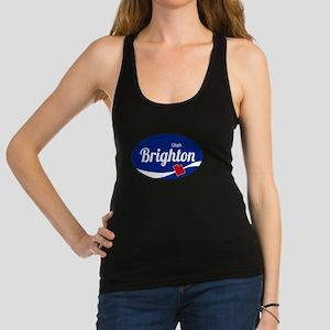 Brighton Ski Resort Utah oval Racerback Tank Top