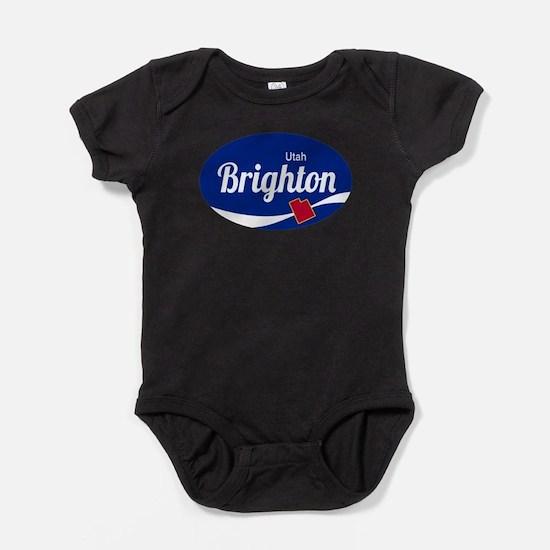 Brighton Ski Resort Utah oval Baby Bodysuit