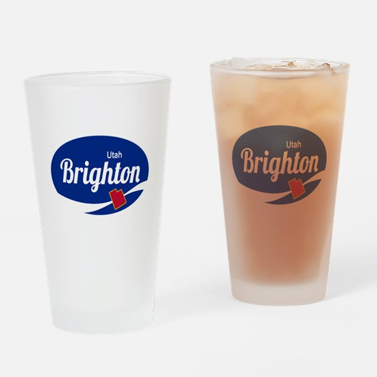 Brighton Ski Resort Utah oval Drinking Glass