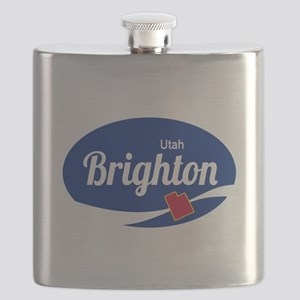 Brighton Ski Resort Utah oval Flask
