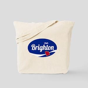 Brighton Ski Resort Utah oval Tote Bag