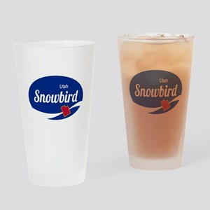 Snowbird Ski Resort Utah oval Drinking Glass