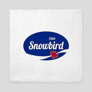 Snowbird Ski Resort Utah oval Queen Duvet