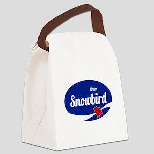 Snowbird Ski Resort Utah oval Canvas Lunch Bag