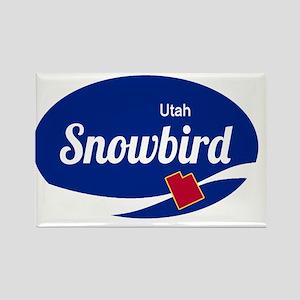 Snowbird Ski Resort Utah oval Magnets
