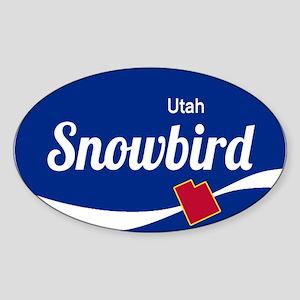 Snowbird Ski Resort Utah oval Sticker