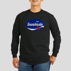 Snowbasin Ski Resort Utah oval Long Sleeve T-Shirt