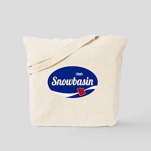 Snowbasin Ski Resort Utah oval Tote Bag