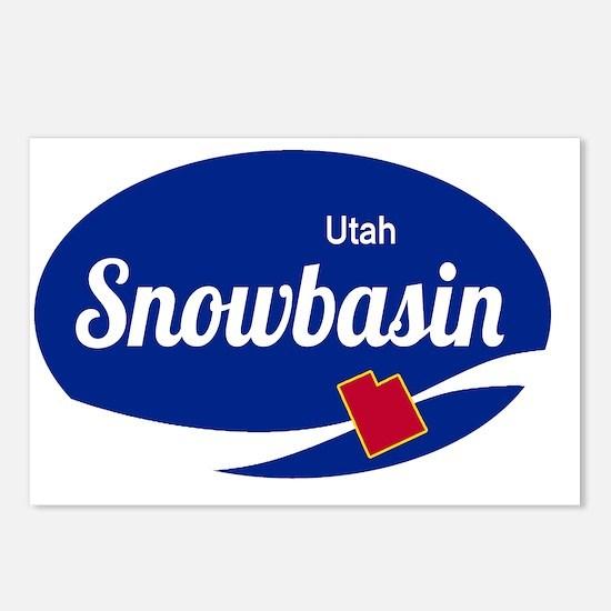 Snowbasin Ski Resort Utah Postcards (Package of 8)