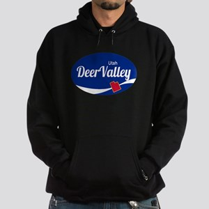 Deer Valley Ski Resort Utah oval Hoodie (dark)