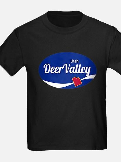 Deer Valley Ski Resort Utah oval T-Shirt