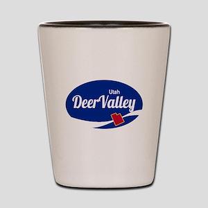 Deer Valley Ski Resort Utah oval Shot Glass