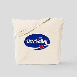 Deer Valley Ski Resort Utah oval Tote Bag