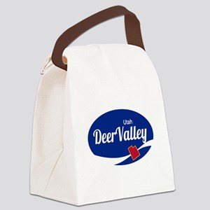 Deer Valley Ski Resort Utah oval Canvas Lunch Bag