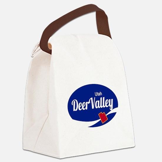 Deer Valley Ski Resort Utah oval Canvas Lunch Bag