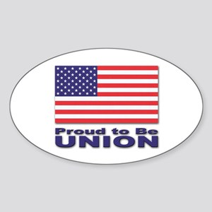 Proud to be Union Oval Sticker