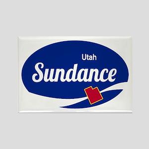 Sundance Ski Resort Utah oval Magnets