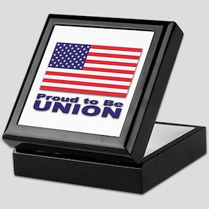 Proud to be Union Keepsake Box