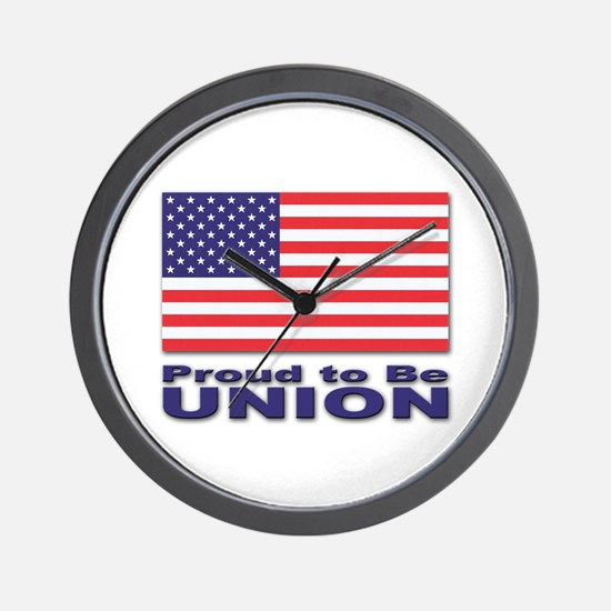 Proud to be Union Wall Clock