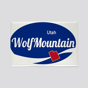 Wolf Mountain Ski Resort Utah oval Magnets