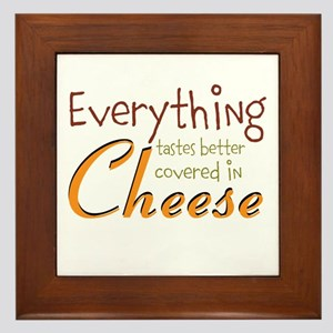 Covered In Cheese Framed Tile