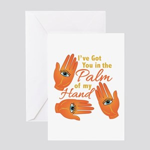 Palm Of My Hand Greeting Cards