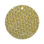 School of Clownfish Pattern Ornament (Round)