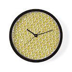 School of Clownfish Pattern Wall Clock