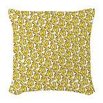 School of Clownfish Pattern Woven Throw Pillow
