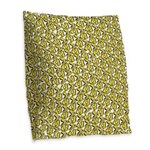 School of Clownfish Pattern Burlap Throw Pillow